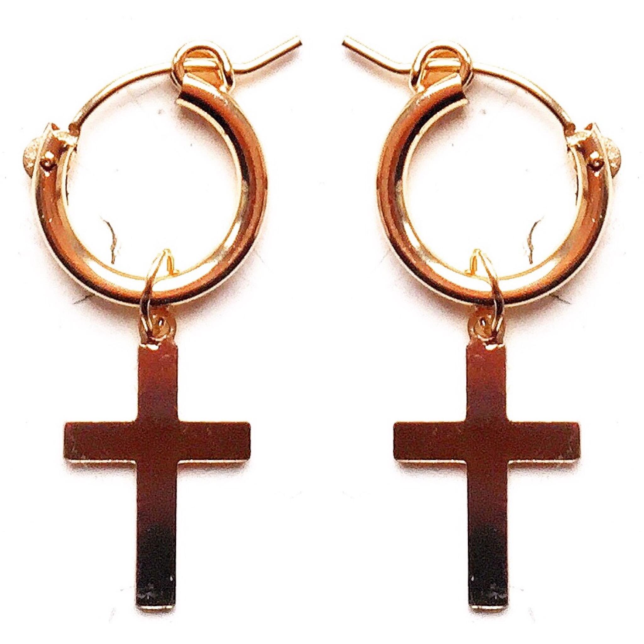 peaceofschmuck-earrings-cross-hoops