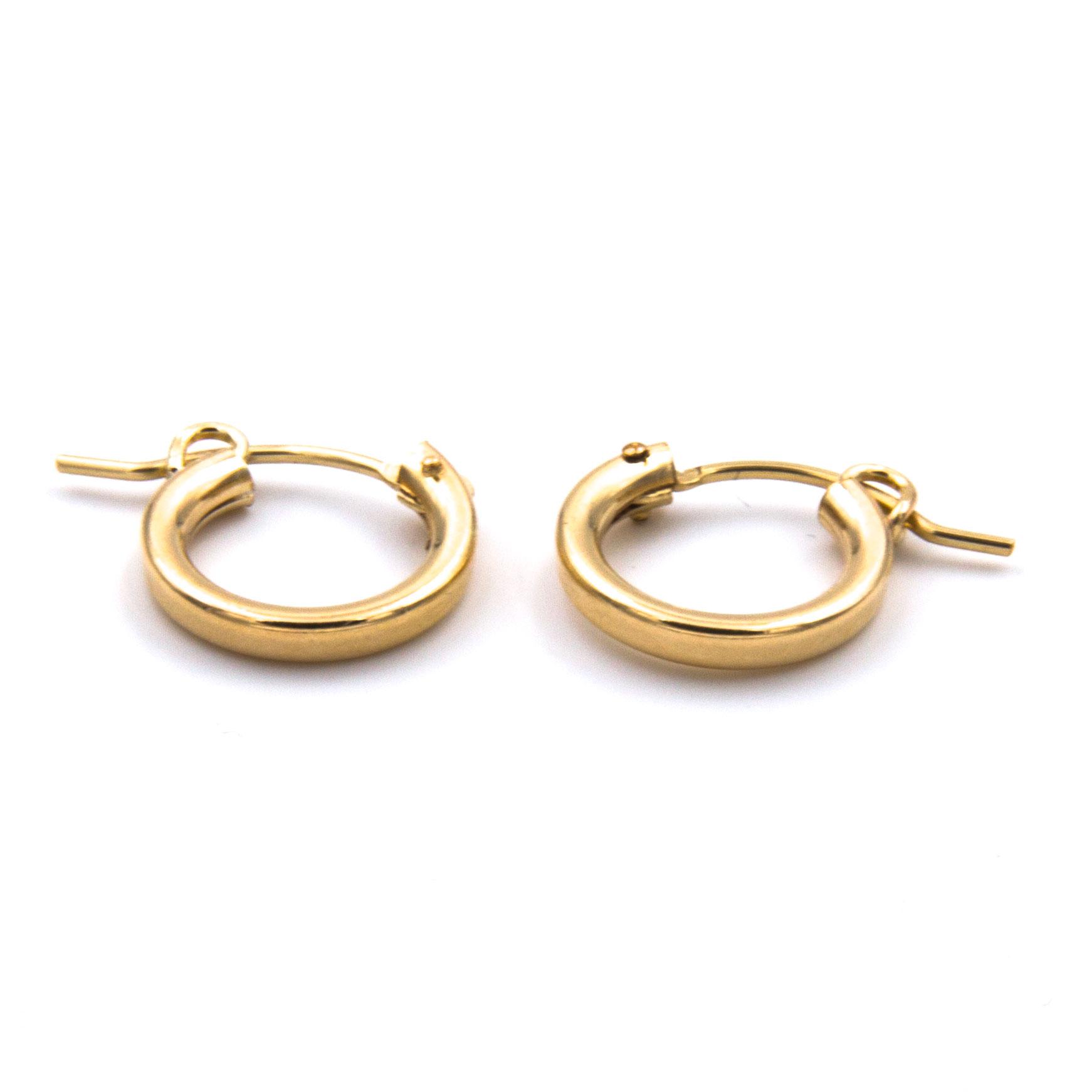 Peaceof Earrings Little Gold Hoops