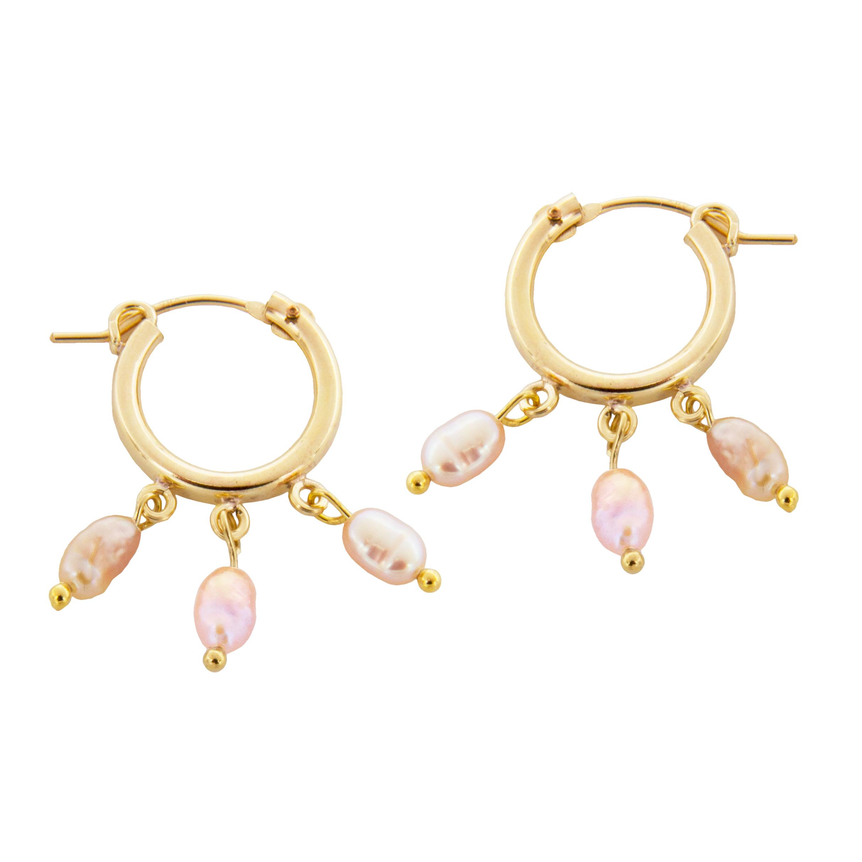 peaceofschmuck-earrings-rose-pearl-hoops